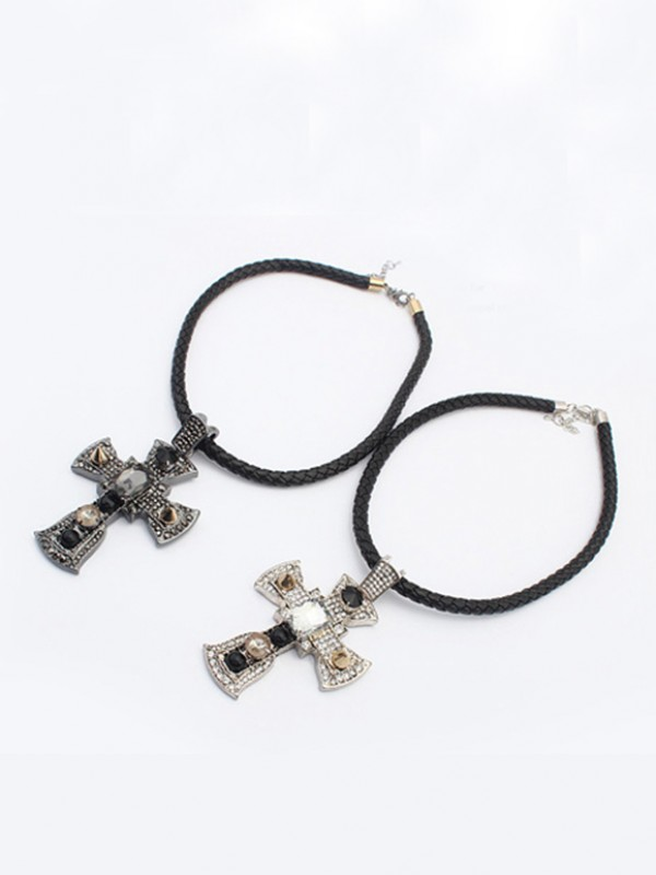 Occident Punk Retro Cross Mode Collier