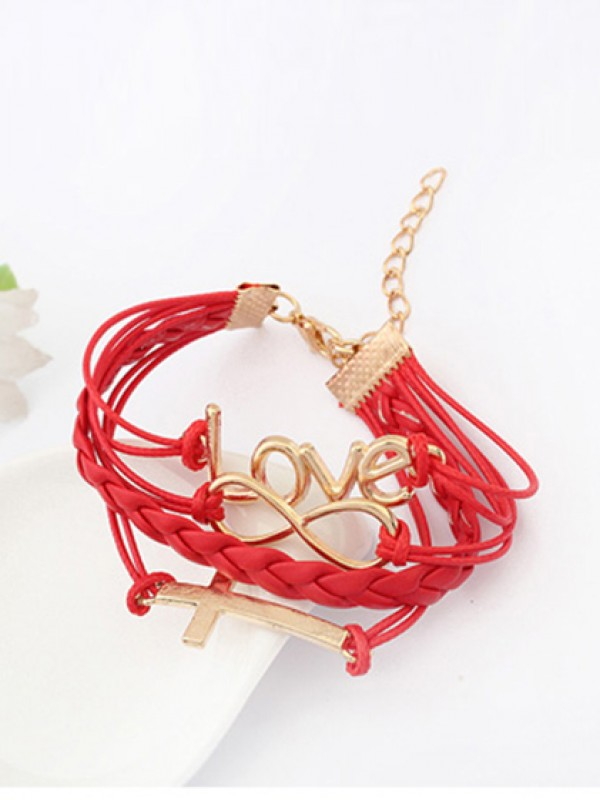Korean version Romantic Password love Cross Mode Bracelets
