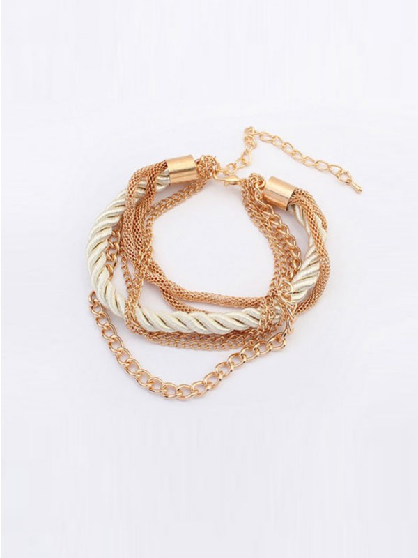 Occident All-match Woven Multi-layered Mode Bracelets