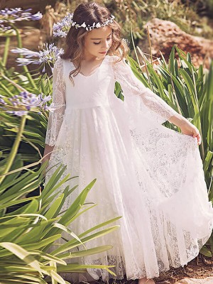 Voile Appliqués Manches ½ Special Occasion Mode Emballage